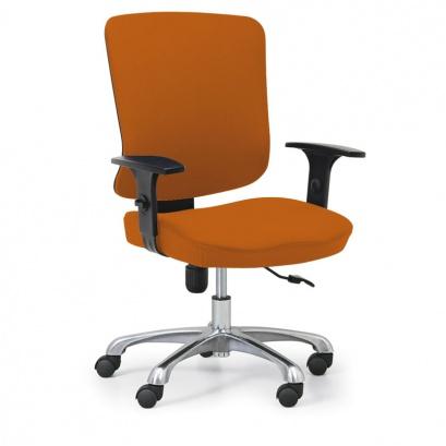 Kancelářská židle HILSCH 1+1 ZDARMA, oranžová