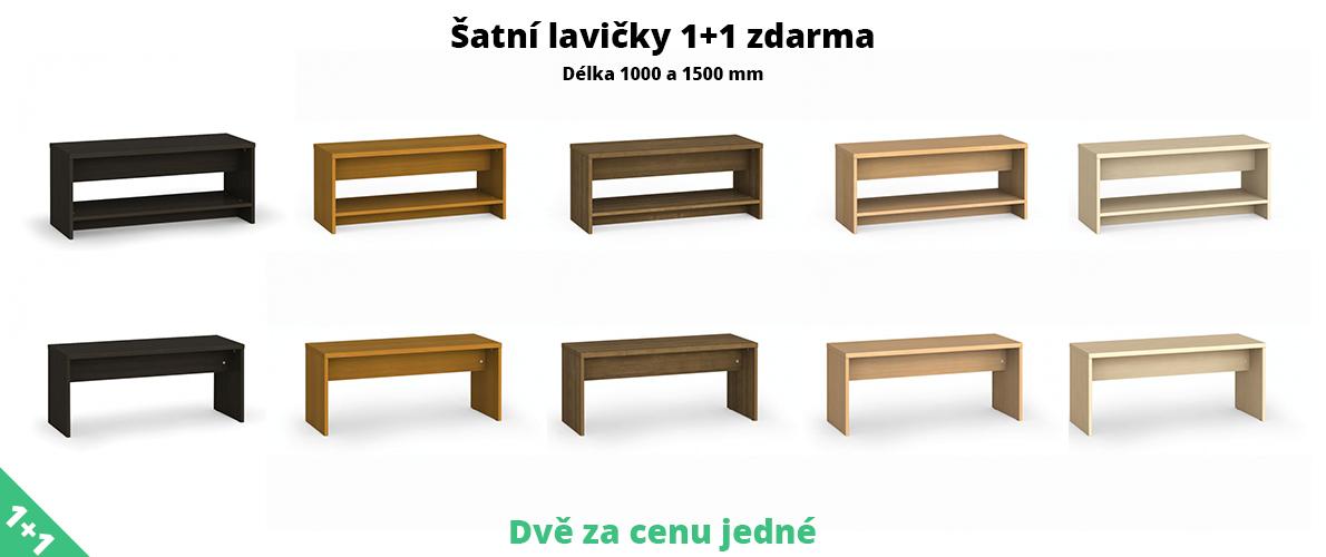 šatní lavičky 1+1 zdarma