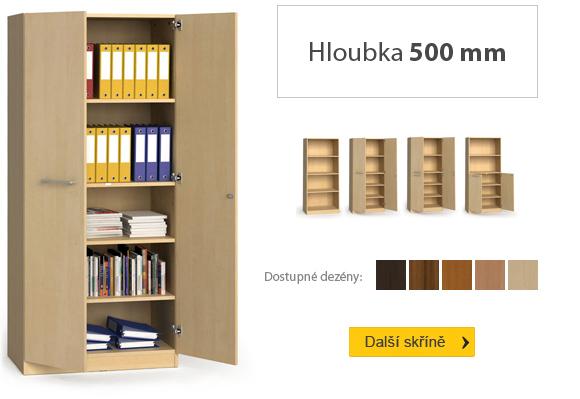Dřevěné spisové skříně