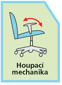Kancelářské židle - houpací mechanika