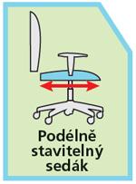 Kancelářské židle - nastavitelný sedák