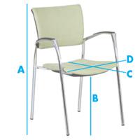 Konferenční židle - rozměry