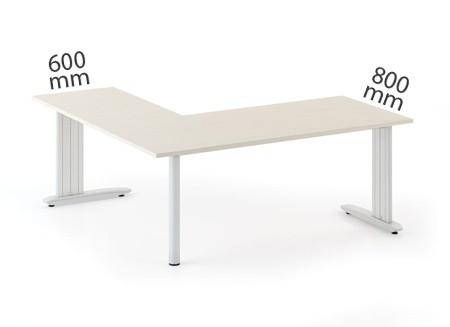 Kancelársky stôl Flexible L 1800 x 1400 mm, buk