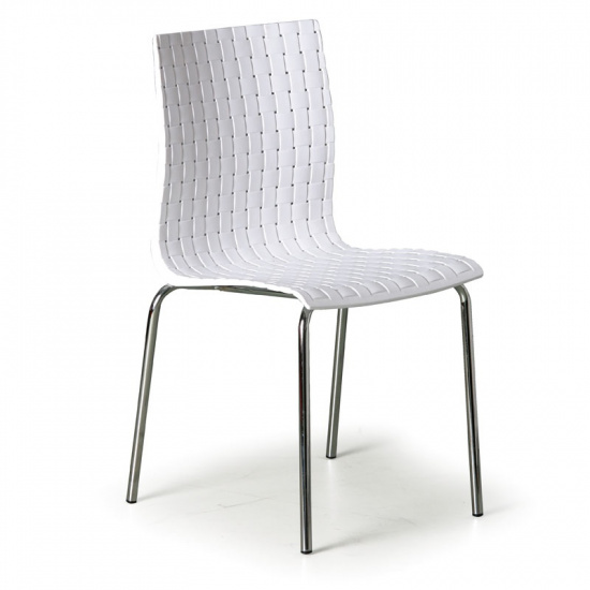 Stolička Mezzo, biela