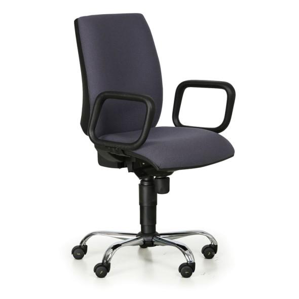 Pracovná stolička antistatická ESD, tmavo sivá, s opierkami rúk