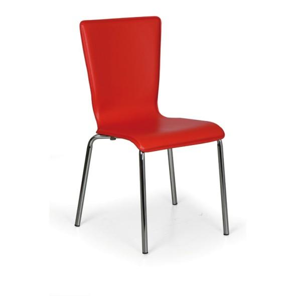 Jedálenská stolička Caprio, červená, 3+1 ZADARMO