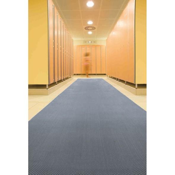 Univerzálna vinylová rohož, 5 mm, šírka 1,2 m, sivá, metráž