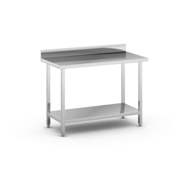 Nerezový pracovný stôl s policou, 1200 x 600x 850 mm