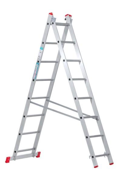 Dvojdielny rebrík, 2x8