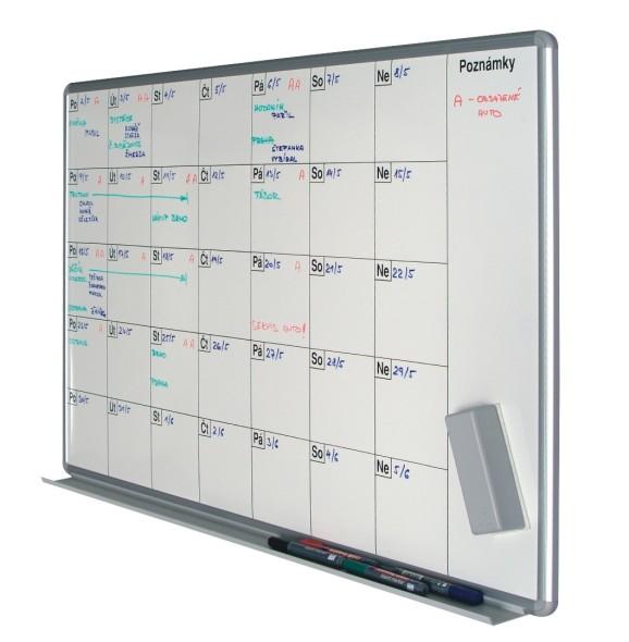 Mesačná plánovacia tabuľa ekoTAB, 100x70 cm, keramická