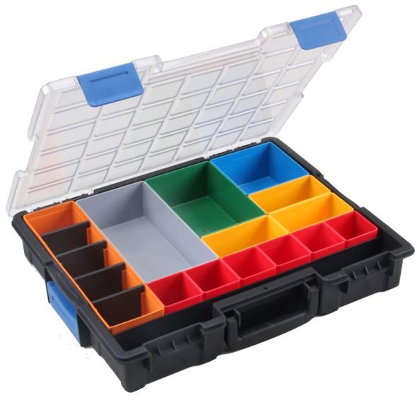 Profesionálne kufre na drobné diely, 16 krabičiek