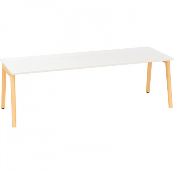 Konferenčný stôl ROOT, 2400 x 1000 mm, biela