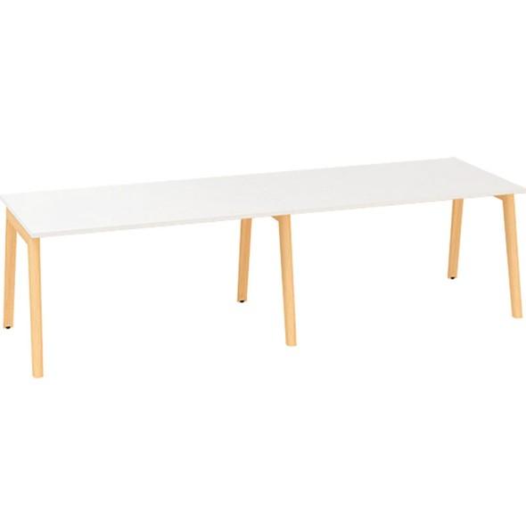 Konferenčný stôl ROOT, 2800 x 1000 mm, biela