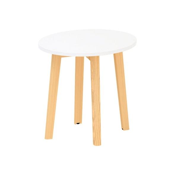 Konferenčný stôl ROOT, priemer 500 x 477 mm, biela