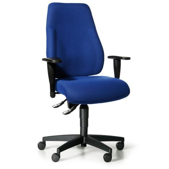 Kancelárska stolička EXETER LADY s podpierkami rúk, modrá