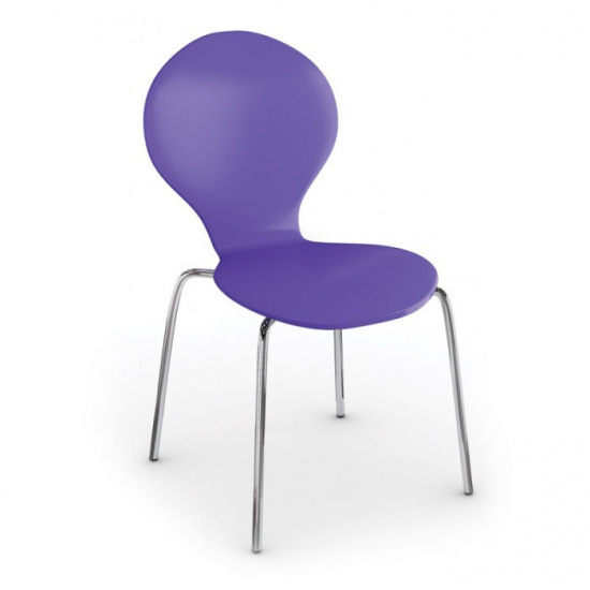 Jedálenská stolička Candy, fialová, 3+1 ZADARMO