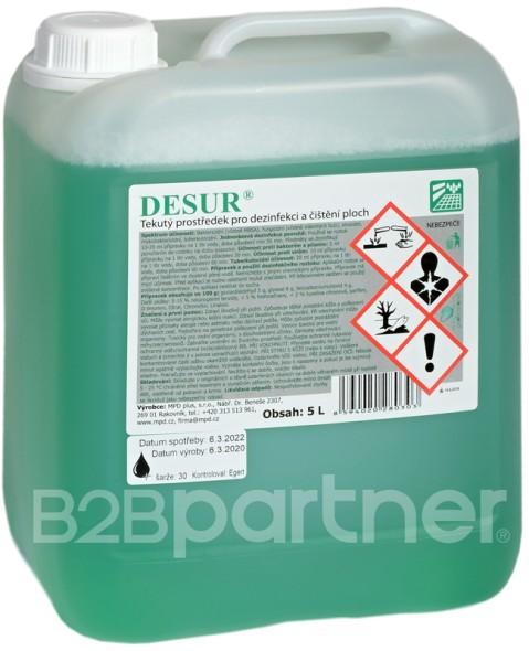Koncentrovaný prostriedok na dezinfekciu plôch, 5 L
