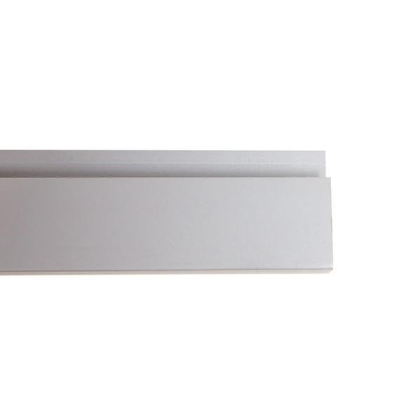 Zakončovacia lišta Fini, 200 cm, sivá