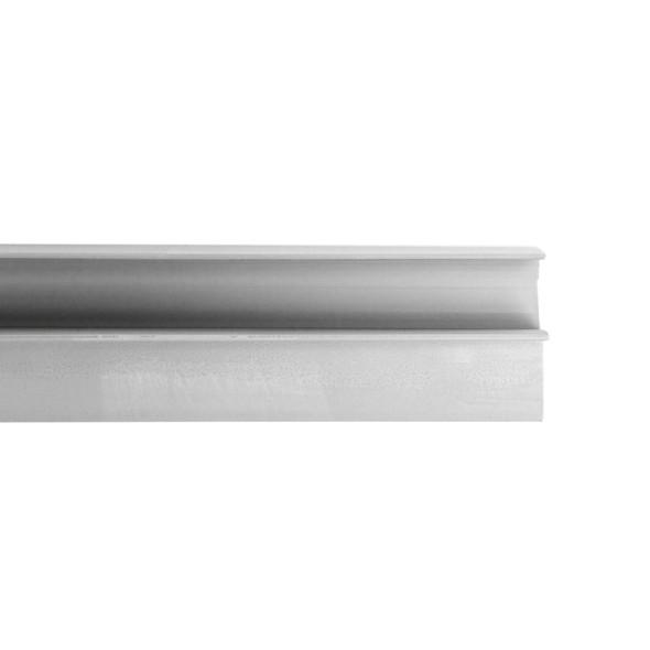 Rohová spojovacia lišta lát 200 cm, sivá