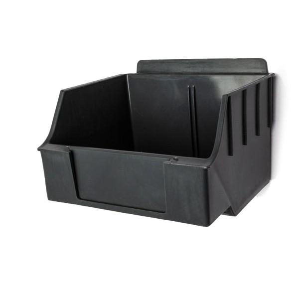 Plastový závesný box SPOLIA, 140 x 13 x 95 mm, sivý