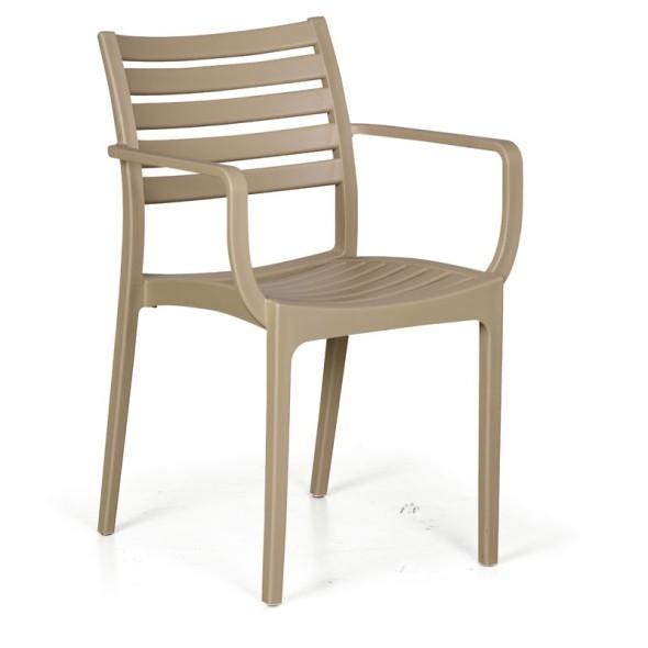 4x stoličky Slender, čierna + stolík Coffee Time ZADARMO