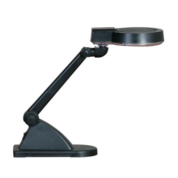 Stolná LED lampa so zväčšovacou lupou, čierna