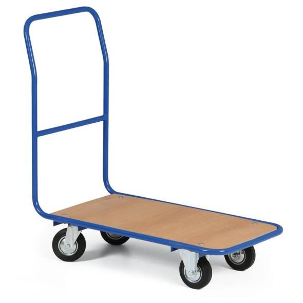 Plošinový vozík LIGHT, plošina 780 x 450 mm, kolesá s šedou gumou