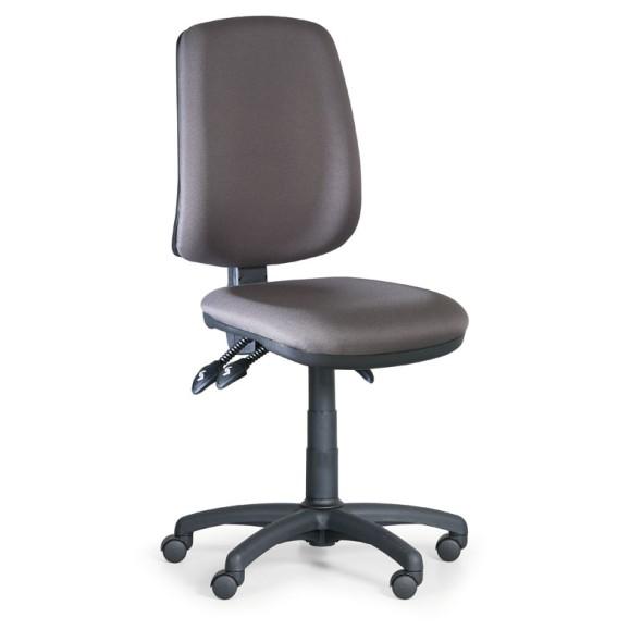 Kancelárska stolička ATHEUS bez podpierok rúk, sivé
