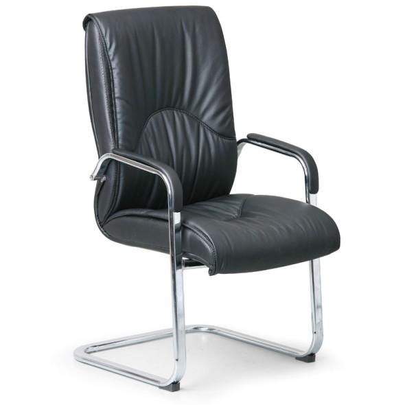 Konferenčná / prísediaca stolička LUX, čierna