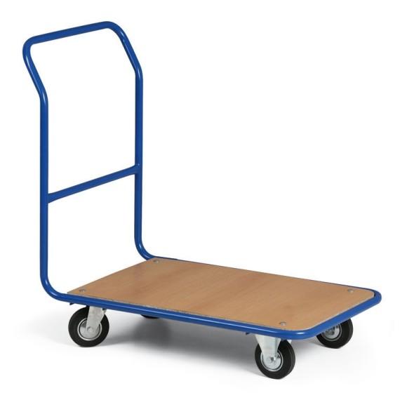 Plošinový vozík, plošina 830 x 530 mm, kolesá s čiernou gumou