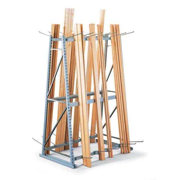 Regály na skladovanie profilov - obojstranný, 2200 x 1400 x 800 mm, prístavný