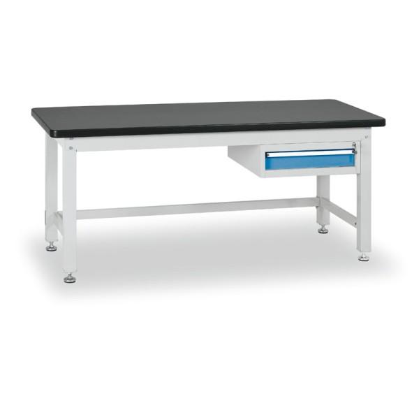 Dielenský stôl s jednozásuvkovým kontajnerom, dĺžka 2100 mm