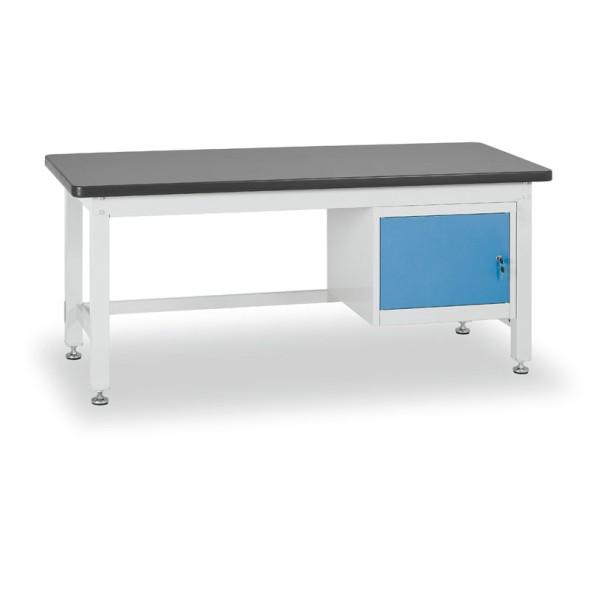 Dielenský stôl so skrinkou, dĺžka 1800 mm