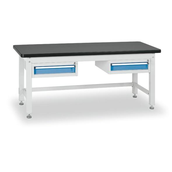 Dielenský stôl s jednozásuvkovými kontajnermi, dĺžka 2100 mm