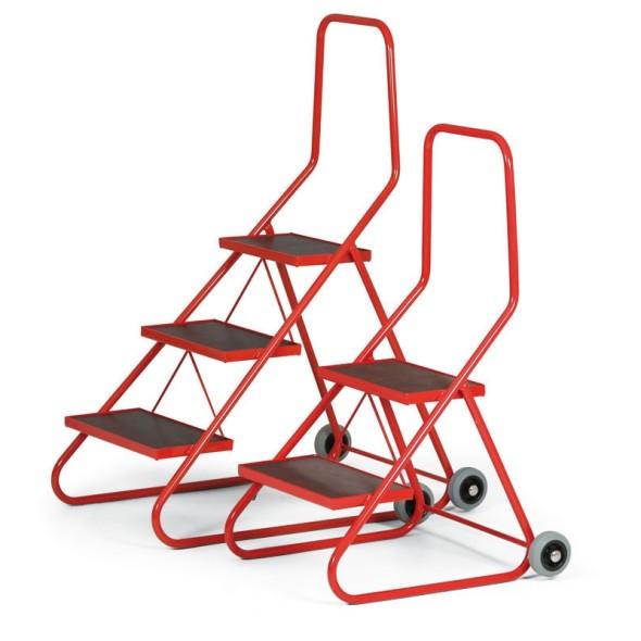Mobilné schodíky 430 mm, 2 priečky, výška plošiny 43 cm