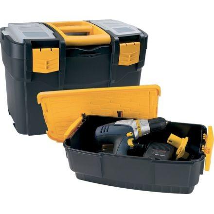 Plastové kufre na náradie s prídavným boxom