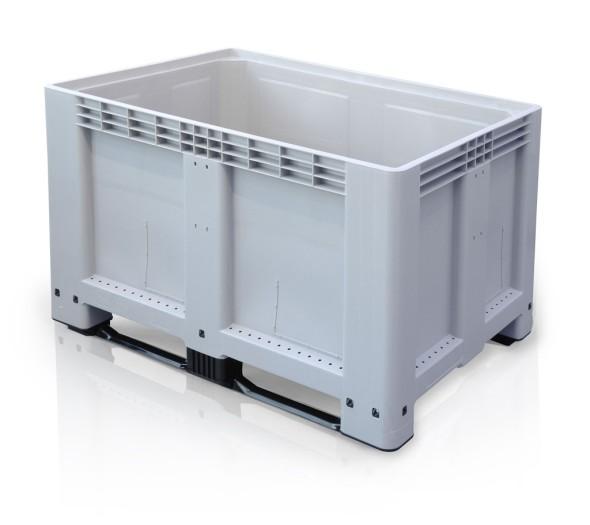 Paletový kontejnar - Big Box - 1200 x 800 x 800 mm, 2 ližiny