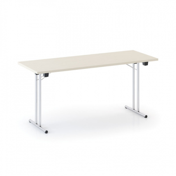 Skládací konferenční stůl FOLD, 1600 x 800 mm, bříza