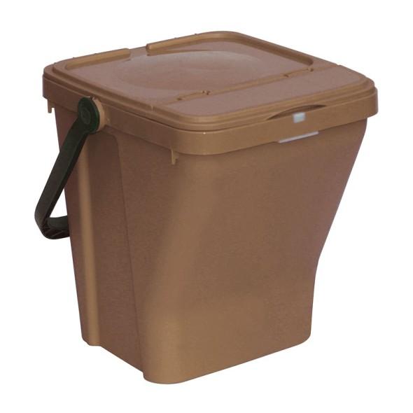 Plastové odpadkové koše ECOTOP II, hnědá