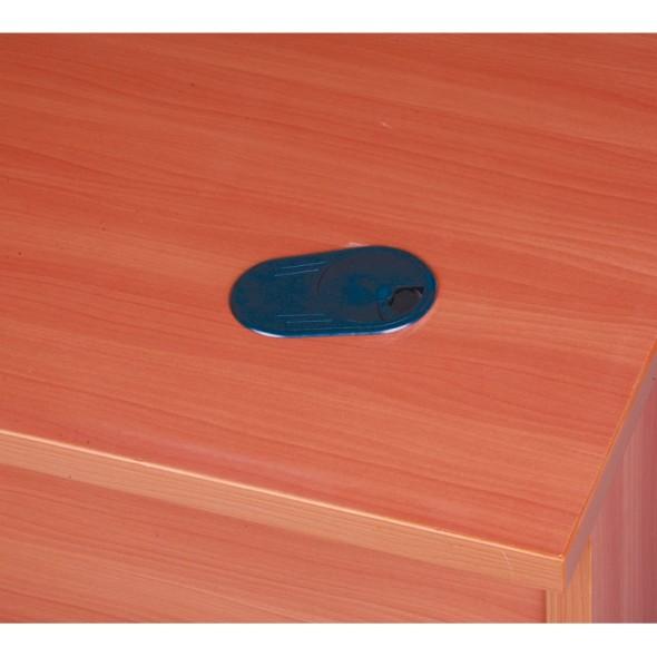 Ergonomický psací stůl MIRELLI A+, pravý, ořech