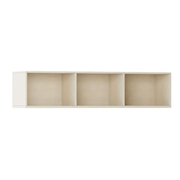 Knihovna INTEGRO policová nižší, 465 x 1750 x 400 mm, 3 police, bříza