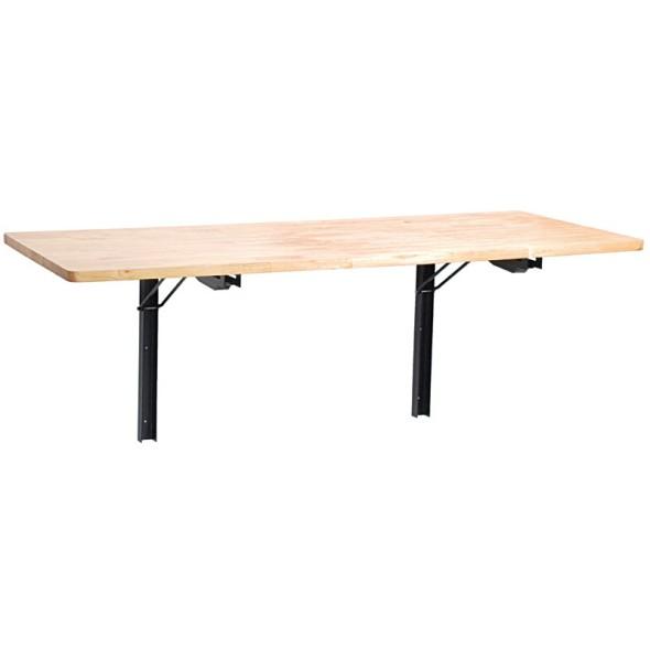 Sklopný dílenský stůl na zeď, 1200 x 580 mm
