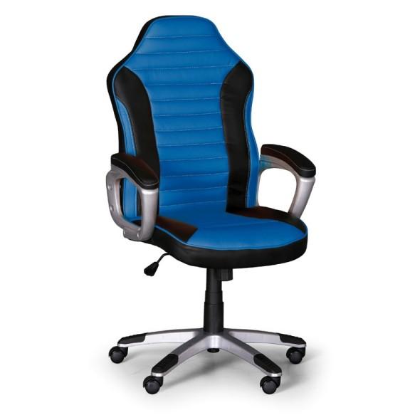 Kancelářské křeslo Sport, černá/modrá
