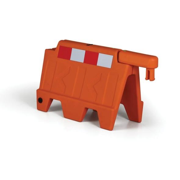 Stohovatlená plastová plastová zábrana, oranžová s reflexními prvky, délka 0,91 m