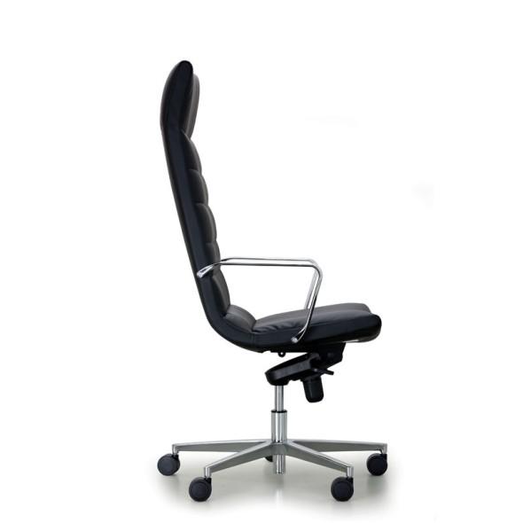 Kožené kancelářské křeslo PROKURIST, černá