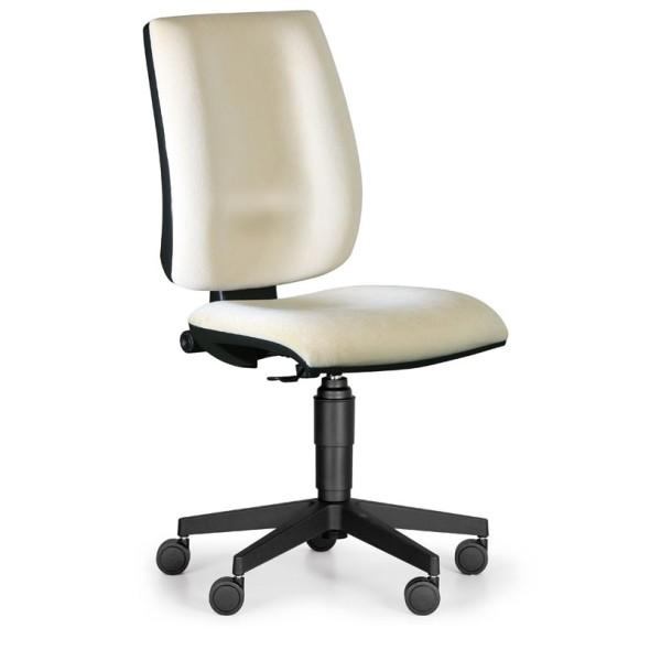 Kancelářská židle FIGO bez područek, permanentní kontakt, béžová