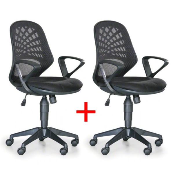 Kancelářská židle Fler 1+1 Zdarma, černá