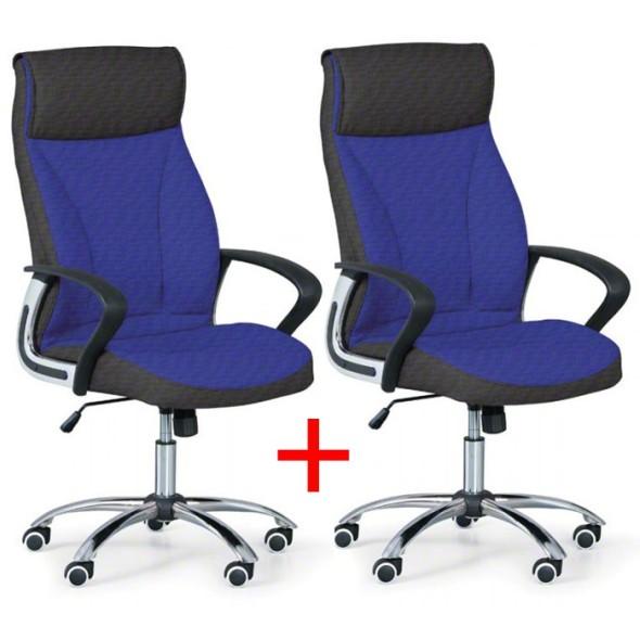 Kancelářské křeslo DERRY TEX, Akce 1+1 ZDARMA, modrá
