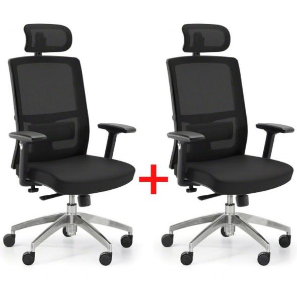 Kancelářská židle NED MF, Akce 1+1 ZDARMA, černá