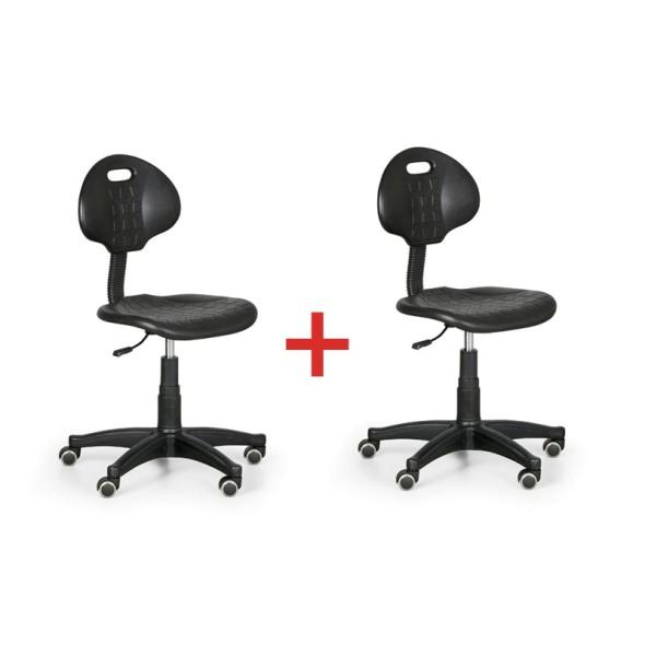 Dílenská pracovní židle PUR, akce 1+1 zdarma